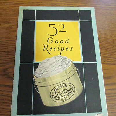 Detroit, Mich. Daisy Valley Creamery Post's Cream Cottage Cheese Recipe booklet