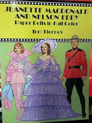 Jeanette Macdonald And Nelson Eddy Paper Dolls Color Tom Tierney  Mountie Nrmint