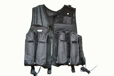 Taktische Weste Pocket black tactical Vest Airsoft Paintball PaintNoMore