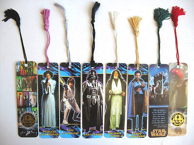 Rare Lot De 8 Marque Page Star Wars Bookmark