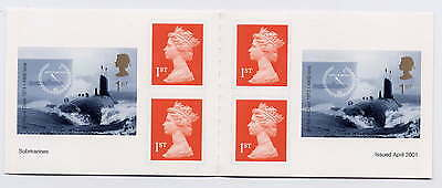 GB 2001 CENTENARY of ROYAL NAVY SERVICE SUBMARINE CYLINDER BOOKLET PM2