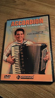 Accordion Styles And Techniques  Learn (DVD, 2005)  by Joey Miskulin / 80mins.