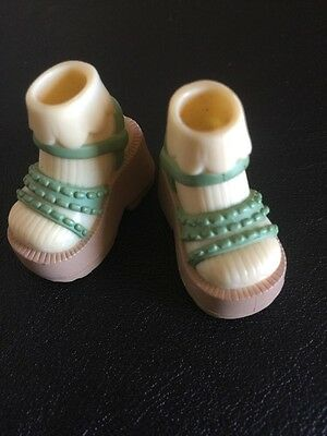 Barbie My Scene Doll Boutique Clothes Green Sandals With Pale Yellow Socks