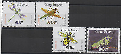 Guinea-Bissau 1996 Insects set of 4 stamps Mi. 1239 - 1241 MNH ** Scarce !