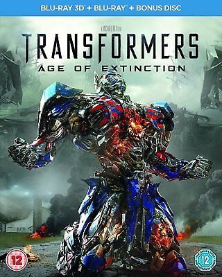 Transformers Age of Extinction 3D + 2D Blu-Ray NEW with lenticular slipcover