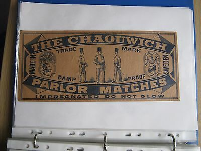 Old Swedish Chaouwich Gross Size Matchbox Label.