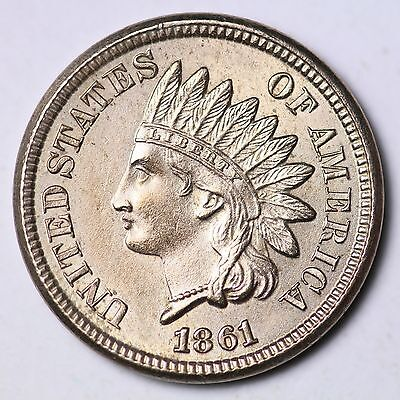 1861 Indian Head Small Cent CHOICE BU FREE SHIPPING E117 EPT