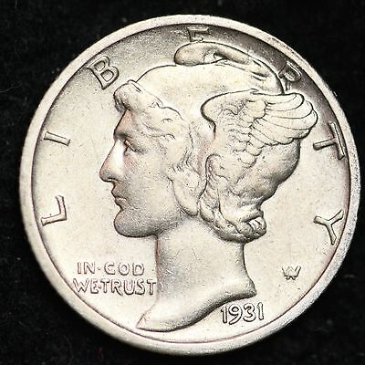 1931-D Mercury Dime CHOICE AU+ FREE SHIPPING E248 UNT