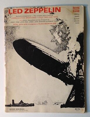 LED ZEPPELIN 1 S/T Robert Plant Live Photos ORIGINAL 1969 Sheet Music SONGBOOK