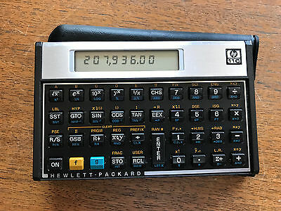 Hewlett-Packard HP 11C Scientific Calculator with Case