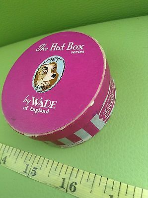 THE HAT BOX SERIES ORIGINAL BY WADE created WALT DISNEY no 1 LADY empty RARE BOX