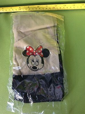 RETRO VINTAGE 80s Style ONE SIZE BLACK RED NUDE MINNIE MOUSE (Mickey) NEW TIGHTS