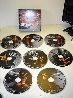 Insanity workout DVD 60 day programme 'Beachbody 9/10 discs missing cardio power