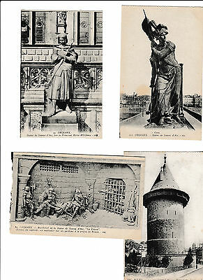 Joan, Jeanne d'Arc - 8 old post cards
