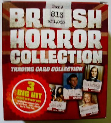 British Horror Collection Sealed Box 2 autos sketch print plate