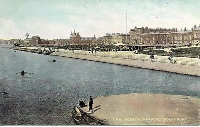 SOUTHPORT - THE NORTH PARADE c1905 POSTCARD