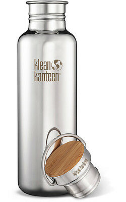 Klean Kanteen Reflect 27 oz. Bottle with Bamboo Cap - Mirrored Stainless