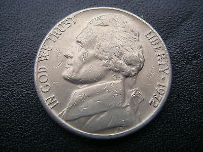 1972 American Jefferson 5 cent or Nickel Coin - Possible Light Strike coin