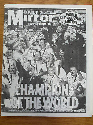 Newspaper November 24 2003 Daily Mirror England RUGBY WORLD CUP Winners Reprint
