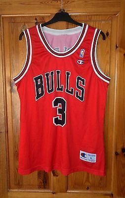 Vintage Chicago Bulls Nba Jersey 2002      3 Chandler      Champion    Large
