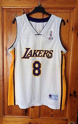 Vintage Los Angeles Lakers Nba Jersey 2001     8 Bryant      Champion   Large