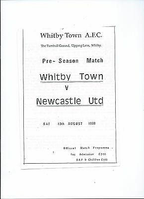 friendly 13/8/88 whitby town v newcastle united