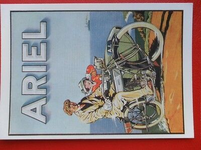 Postcard  Art Advert - Ariel Motor Cycles