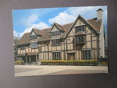 POSTCARD William Shakespeare Birthplace Photograph Stratford upon Avon