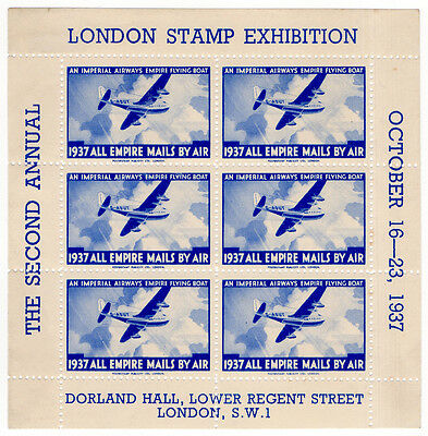 (I.B) Cinderella Collection : Empire Mails By Air (London Stamp Exhibition 1937)