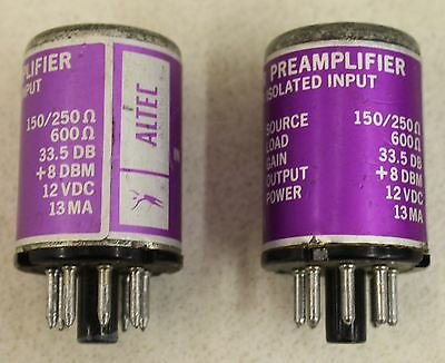 2X ALTEC 1588A Transformer Isolated Input Transistor Preamplifier 150/250