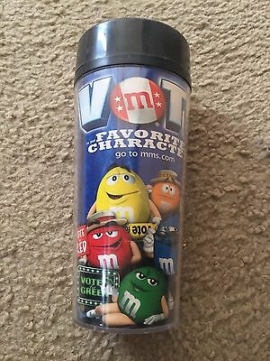 M&M's Vote For Your Favorite Character drink cup mug with lid / cover