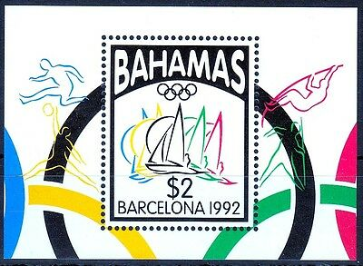Bahamas MiNr. Bl. 67 ** Olympische Sommerspiele in Barcelona
