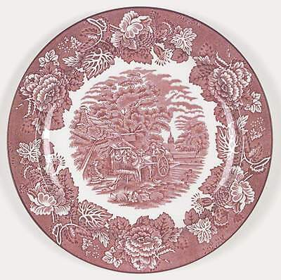 Wood & Sons ENGLISH SCENERY PINK Dinner Plate 6747312