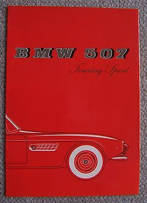 1957.(?) BMW. 507 Touring Sport. Color brochure in GERMAN.