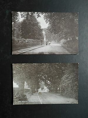 2 Postcards of GOSPORT  The Avenue & St Ann's Hill Road -  Hampshire