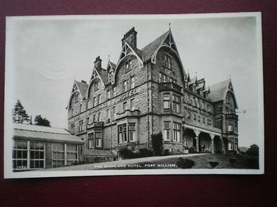 Postcard Inverness-Shire Fort William - The Highland Hotel C1960