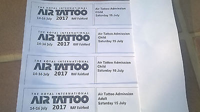 RIAT  one adult and Three child tickets  Saturday 15 July 2017 AIR SHOW SOLD OUT