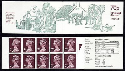 """GB 1978. FD2B. 70p. """"HORSE SHOEING"""". DESIGN NO.1 FOLDED  BOOKLET. MNH."""