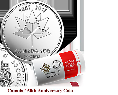 2017 Canada 150th Anniversary Half Dollar Coin (Mint UNC Fifty Cent)