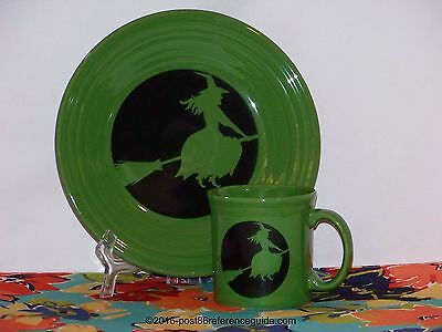 Fiesta® MOON LIT WITCH on SHAMROCK - Luncheon Plate - PLATE ONLY - 1st Quality