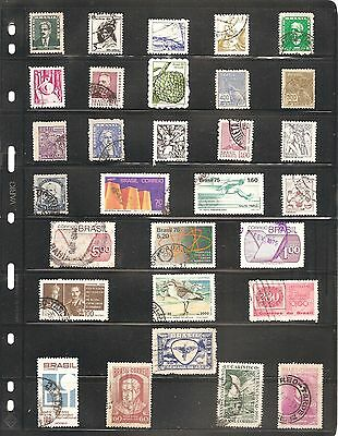 Collection Of  30  Brasil    Fine Used   Stamps (B )