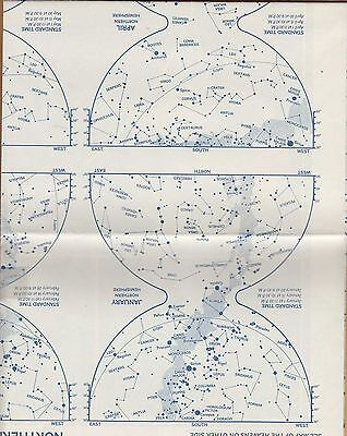 NATIONAL GEOGRAPHIC MAP ~ THE NIGHT SKY ~ Dec. 1957 ~ VERY NICE CONDITION