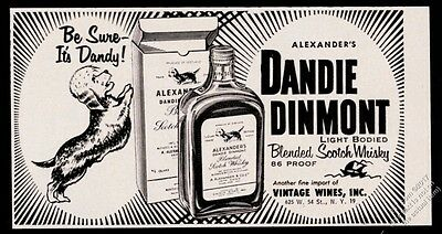 1957 Dandie Dinmont terrier art Scotch Whisky vintage print ad