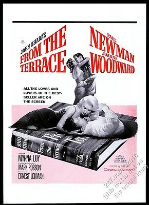 1960 Paul Newman Joanne Woodward photo From The Terrace movie release trade ad