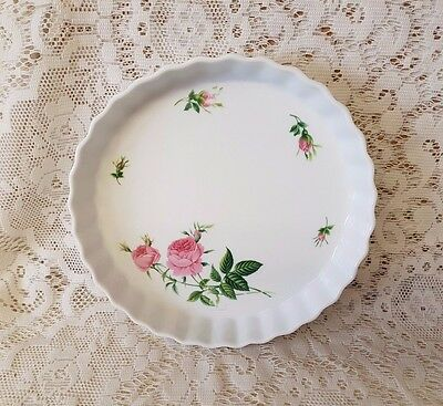 "Christineholm 'The Rose Collection' Quiche/Flan/Tart Dish 9.5""(24cm) Diameter"