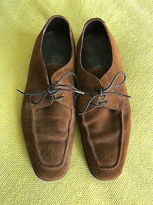 Good Marks & Spencer Collezione men's sturdy lace-up shoes, tan suede, UK8