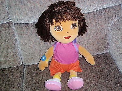 """Dora The Explorer Big 14"""" TY Beanie Doll with backpack - Lovely - 2009"""
