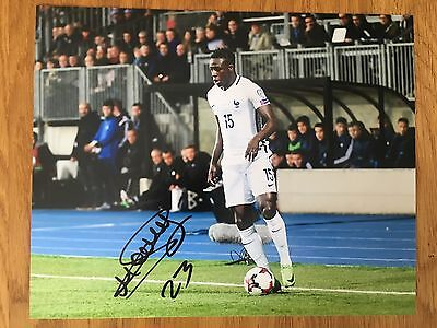 Benjamin Mendy Hand signed 10x8 France Debut Photo - AS Monaco