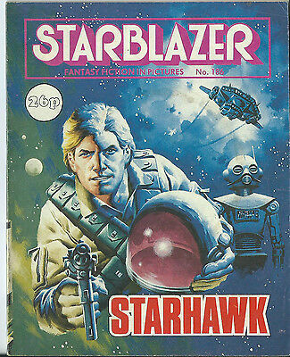 Starhawk,starblazer Fantasy Fiction In Pictures,comic,no.186,1987