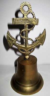 Vintage Brass Anchor Bell